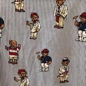 Ralph Lauren Polo Teddy Bear TWIN FLAT SHEET